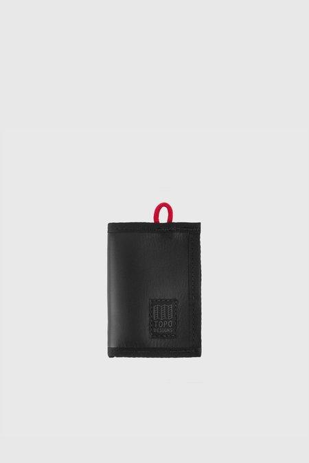 Topo Designs Leather Wallet - Black