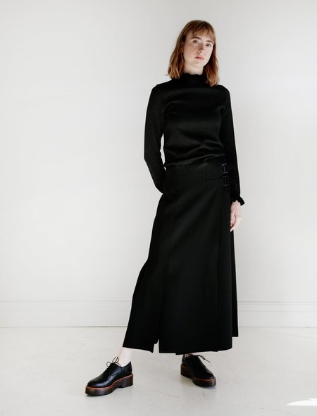 Studio Nicholson Double Belted Skirt - Black