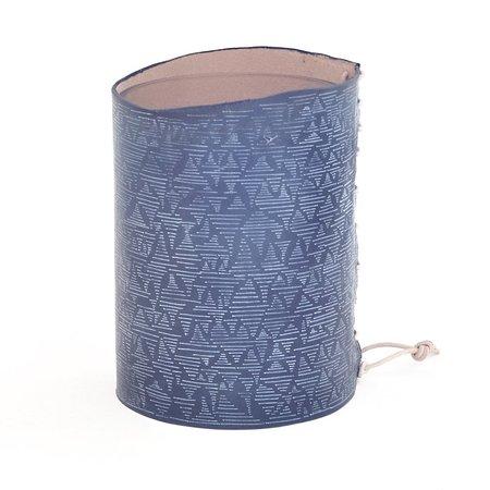 Shosuke Sean Suzuki Original Indigo and Paint on Leather Vase