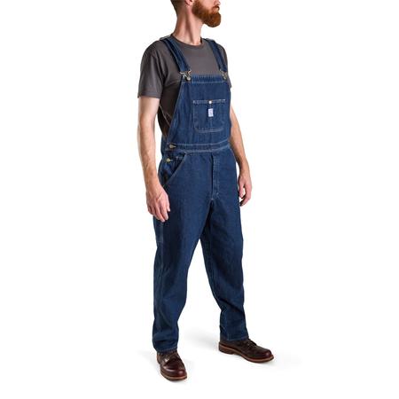 L.C. King Denim High Back Tailored Cut Overalls - Indigo
