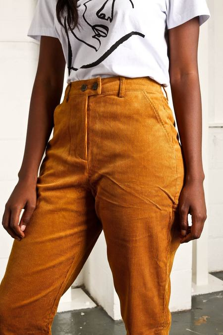 Native Youth MANCHESTER CORD PANT - MUSTARD