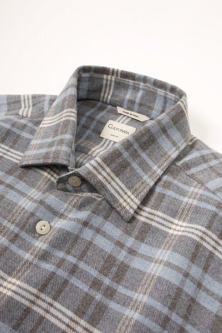 Culturata Super Soft Touch Plaid shirt - Light Blue