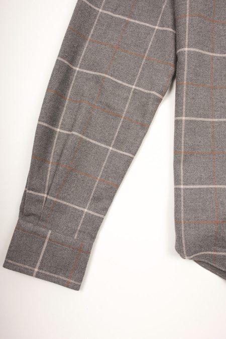 Culturata Super Soft Plaid shirt - Grey/Brown
