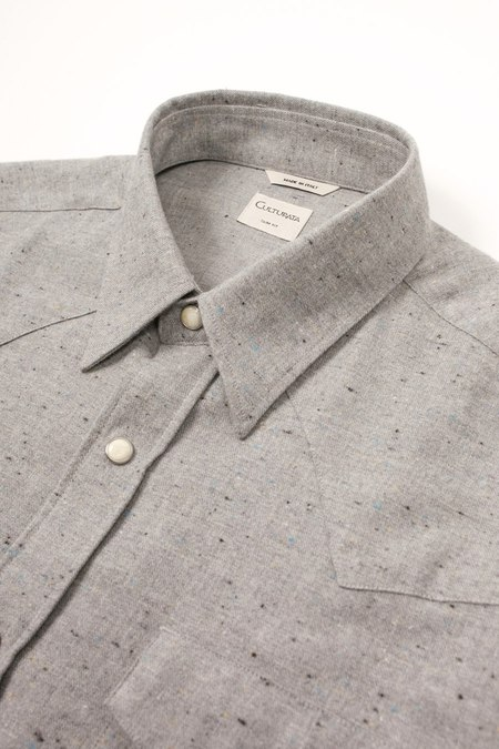 Culturata Super Soft Donegal shirt - gray