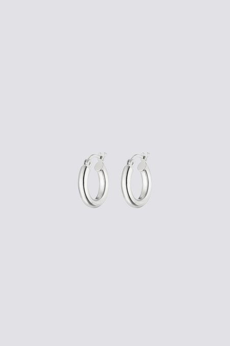 Nina Kastens Small Silver Hoops - Sterling Silver