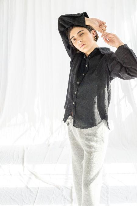 Pip-squeak Chapeau Etc. Boy Wool Gauze Shirt - Black