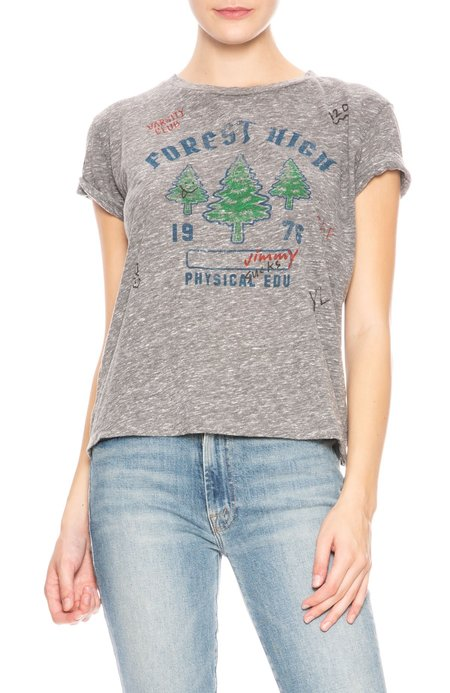 Mother Denim Forest High Oversize Goodie T-Shirt - Forest High