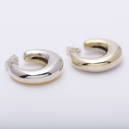 Leigh Miller Two Tone Bubble Hoops