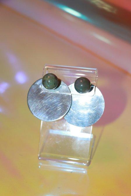 Yuun Consonance l Earring Set - Green Jasper