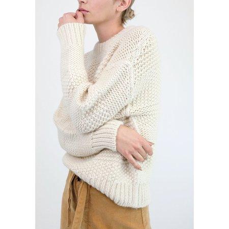 Micaela Greg Ply Knit Pullover - Cream