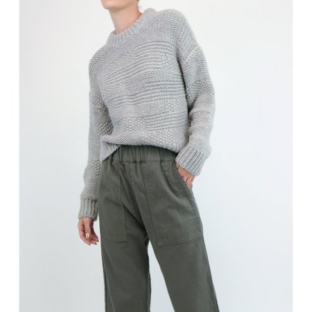 Micaela Greg Ply Knit Pullover - Mixed Grey