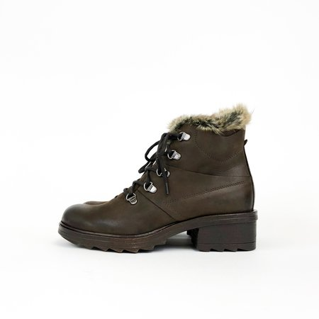 Khrio Lace-Up Snow Boot - Brown