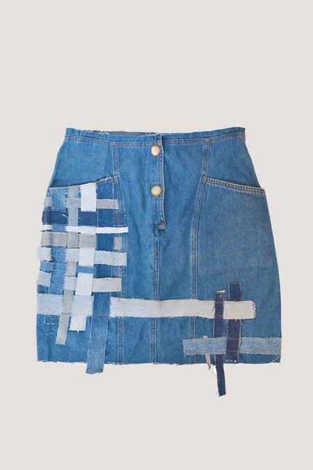 ANTIDOTE x WYLDE High Rise Denim Mini SKIRT - INDIGO