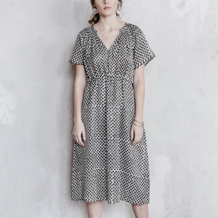 Voloshin Saku Dress - Block Printed