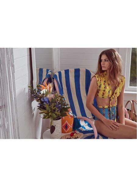Carolina K Nina Bikini Set  - Yellow/Blue