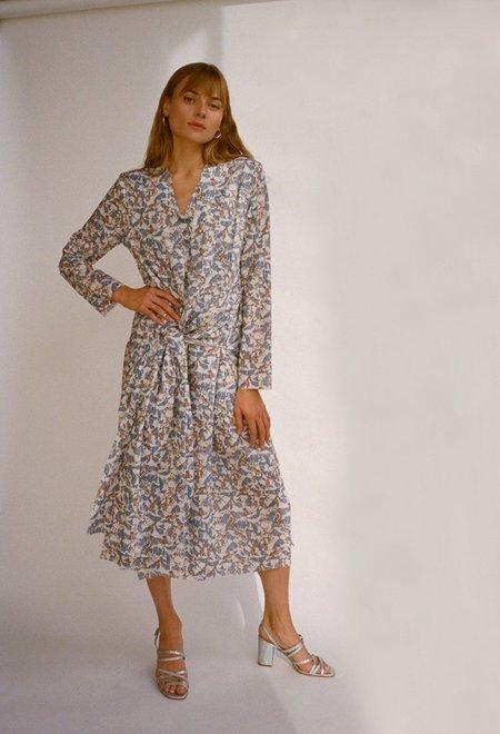 Da/Da Diane Ducasse Knotted Dress - Blue Monkey Poplin