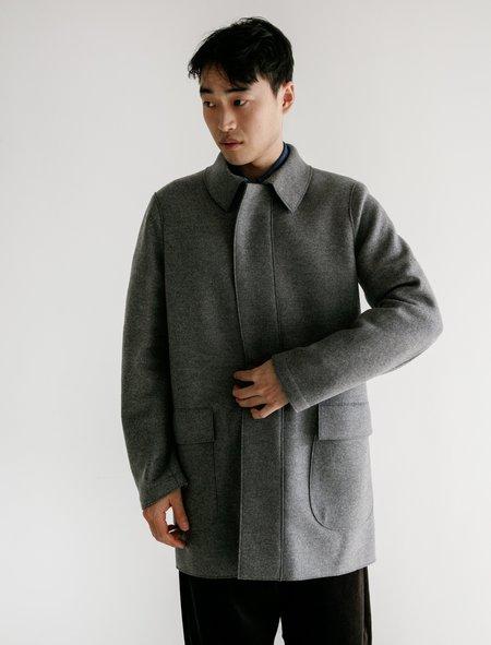 Harris Wharf London Pressed Wool Country Jacket - Grey Melange