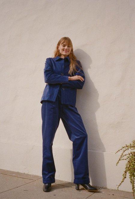 Da/Da Diane Ducasse Corduroy Work Jacket - Royal Blue