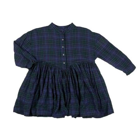 KIDS Morley Child Illy Dress - Yama Blue Plaid