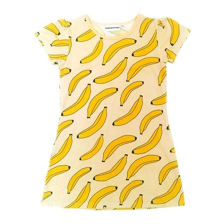 KIDS GARDNER AND THE GANG Bananas Tee Shirt Dress - YELLOW