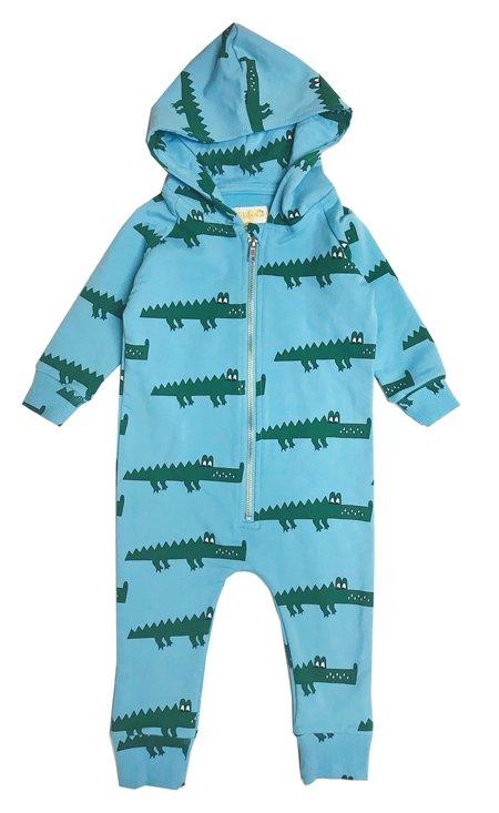 KIDS Hugo Loves Tiki Crocodile Jumpsuit - BLUE