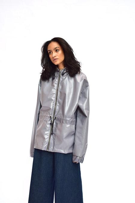Goncalo Peixoto Hooded Jacket With Elastic Waist  - Light Purple