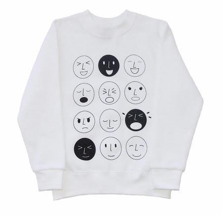 KIDS FIG & HONEY Emoticon Jumper - WHITE