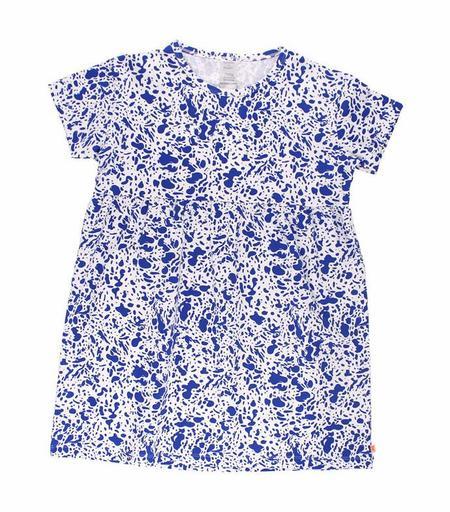 KIDS Tinycottons Enamel Oversized Shirt Dress - BLUE