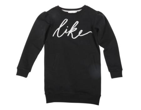 KIDS ONE WE LIKE Hipp Like Sweatshirt Dress - BLACK