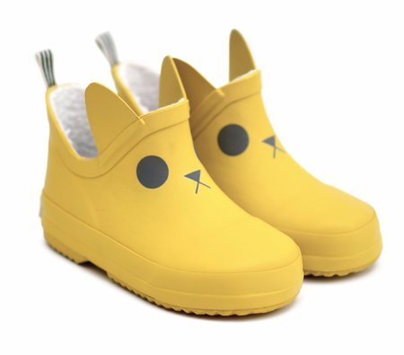 KIDS BOXBO Kerran Fleece Lined Boots - YELLOW