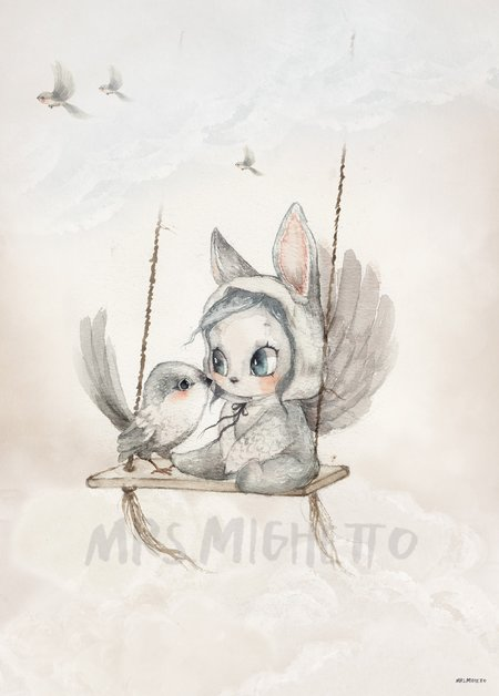 Mrs. Mighetto Mini Bird Master Print