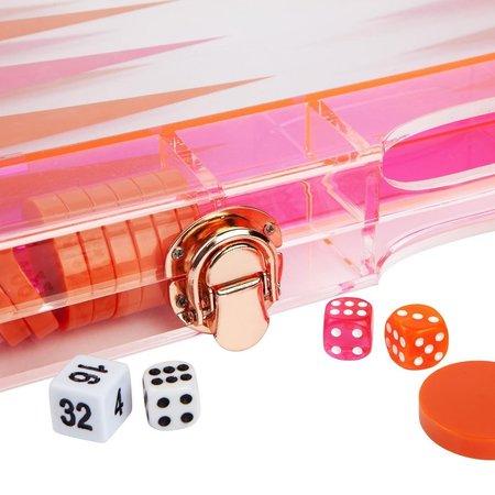 Sunnylife Neon Lucite Backgammon