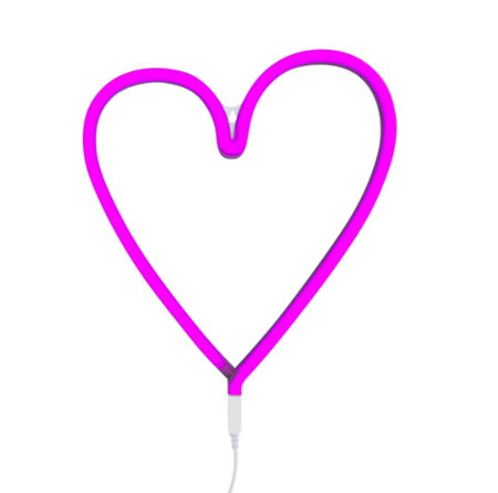 A Little Lovely Company Neon Style Heart Light - PINK