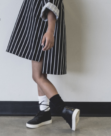 KIDS Meme Nori Oversized Tunic - STRIPES