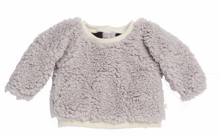 KIDS Bacabuche Pewter Teddy Sweater - Pewter Grey