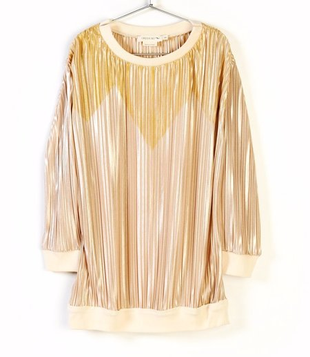 KIDS Andorine Pleated Sweater Dress - GOLD