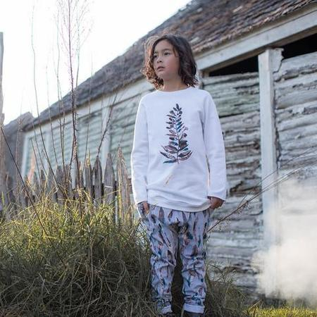 KIDS Feather Drum Plume Woodstocker Pants - GREY