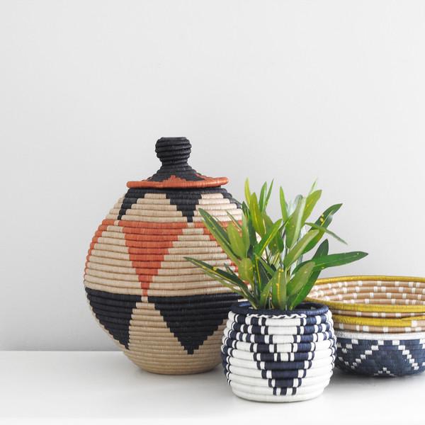 Indego Africa Lidded Floor Basket