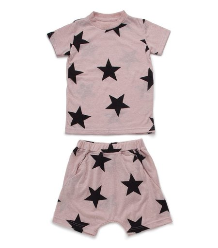 KIDS Nununu Short Star Loungewear - Pink