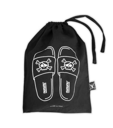 KIDS Nununu Skull Sliders - BLACK