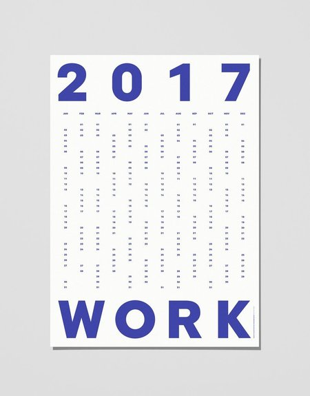 Playtype Work + Play 2017 Calendar