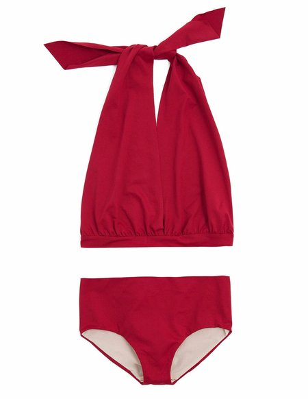 KIDS Little Creative Factory Wrap Bikini - Red