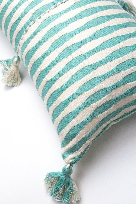 Archive New York Antigua Pillow - Faded Aqua Striped