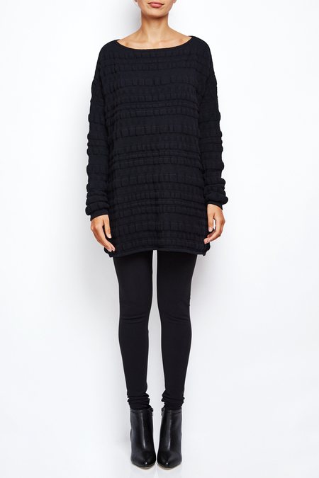 8942730dd0 ... Sarah Pacini long oversize bubble sweater dress - BLACK