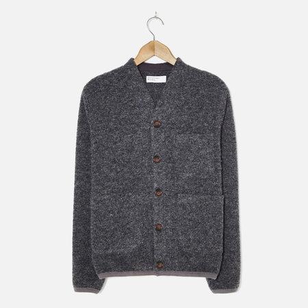 Universal Works Wool Fleece Cardigan - Charcoal