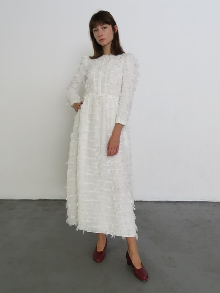 REJINA PYO QUINN DRESS - CHIFFON WHITE