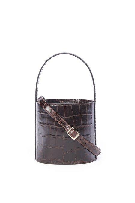 Staud Bissett Bag - Brown Croco