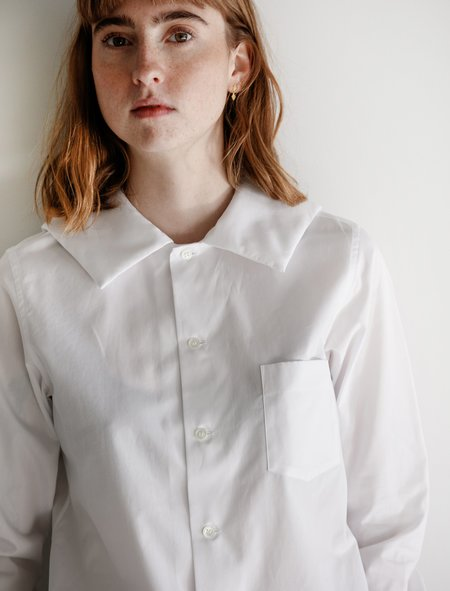 Comme des Garçons Padded Sailor Collar Shirt - White