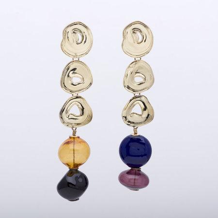 Leigh Miller Long Multi Gumdrop Earrings