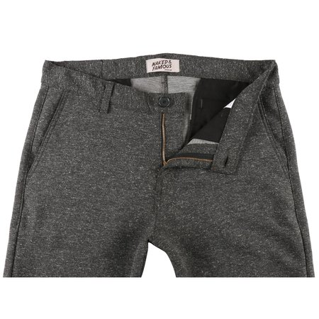 Naked & Famous Straight Chino Nep Stretch Twill - Charcoal
